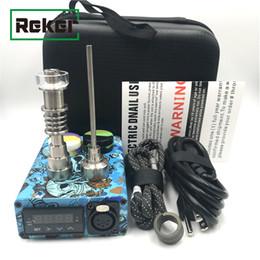 A buon mercato Portatile Enail elettrico Dab Nail Pen Rig Wax PID TC Box con Ti Titanium Domeless Riscaldatore a spirale E Quartz Nail kit pad in silicone da