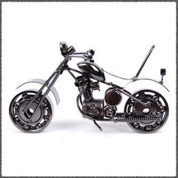 Juguetes de chicos de china online-Mettle Metal Model Toy Boys Gifts Juguetes para niños La rueda se puede mover Estilo retro Motocicletas hechas a mano Modelos de la moto de hierro