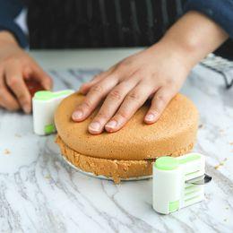 kuchen schicht schneidemaschine Rabatt 2 stücke Einstellbare 5 schichten kuchen cutter DIY Kuchen Fixator Guide Leveler Slicer fondant kuchen dekorieren tools