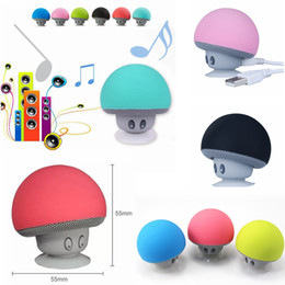 Wholesale Mushroom Waterproof Bluetooth Speaker - Mushroom Bluetooth Wireless car speaker cartoon sucker waterproof sucker mini blueto Loudspeaker Sucker Bluetooth 6colors FFA120 20PCS