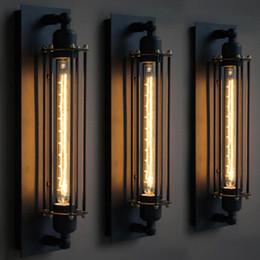 Assiette rustique en Ligne-E27 Industriel Rustique Long Noir Applique Plaque Lampe Rétro Vintage Éclairage