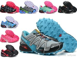 Wholesale Women Shoes 41 - 2018 fashion Newest Zapatillas Speedcross 3 White black yellow Running Shoes Women Walking Ourdoor Sport shoes Athletic Shoes Size 36-41