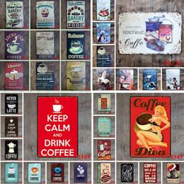 sinal de boas-vindas Desconto Lunck Cup Lata De Café Poster Cheers Melhor Projecto de Cerveja Bolo Fresco Bolo de Lata Sinal de Chocolate Quente 20 * 30 cm Pinturas De Ferro Do Vintage 108 estilos