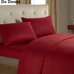 Wholesale Pure Satin Sheets - Pure color imitation satin flat sheet fitted sheet pillowcases four sets of bedding