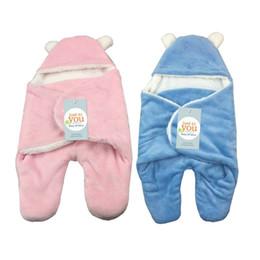 Wholesale Newborn Baby Pack - 2018 Newborn Sleeping Bag Winter Stroller Bed Flannel Packing Bedding Cute Baby Sleeping Bag