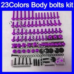 Wholesale f 13 - Fairing bolts full screw kit For HONDA CBR600F 11 12 13 14 CBR600 F CBR 600F 2011 2012 2013 2014 14 Body Nuts screws nut bolt kit 23Colors