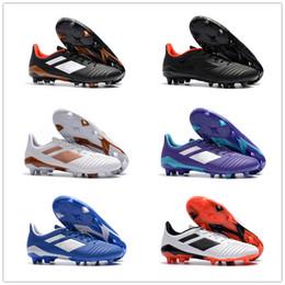 messi botas negras baratos Rebajas 2018 recién llegado de depredador 18 / 18.1 FG zapatos de fútbol zapatos de tacón Falcon Chaussures De fútbol botas de clavo de los hombres zapatillas de deporte de entrenamiento superior 36-45