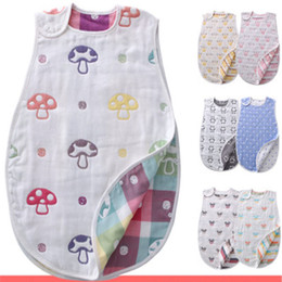 Wholesale new baby arrival - New Arrival Newborn Sleeveless Baby Sleeping Bag Cartoon Animals 100% Cotton Kids Warm Sleeping Bag Flowers Printing Pattern