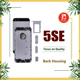 Wholesale Iphone Housing Cases - Back Housing Battery Cover Coque for iPhone 5SE with LOGO & Buttons & Sim Tray +Custom IMEI Fundas Chassis Rear Door Case Middle Body Panel