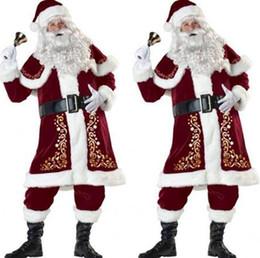 Uomo Adulto Babbo Natale Babbo Natale Fancy Dress Costume Natale Vestito Da Giorno Successivo