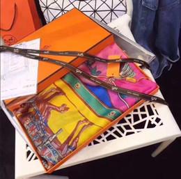 2019 blaue schals kaninchen Mode Hohe Qualit Luxus Frauen Seidenschal Sommer Designer Blume Lange Schal Label 180x90 Cm Schal Silk Brief Schals