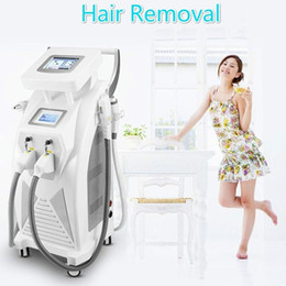 Wholesale Ipl Laser Treatment Machines - Professional Yag Laser Elight IPL SHR Tattoo Hair Removal Bipolar RF Machine DHL FEDEX Free Shipping