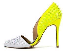 Luxus Design Voll Niet Frauen Pumps Lackleder Frau High Heels Spitz D'Orsay Zweiteilige Frauen Schuhe Chinelo Feminino von Fabrikanten