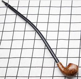 Lange rohre für tabak online-Lange Stange Pfeife Holz Zigarettenspitze Kreative Filter Tabak Rohr für Geschenk