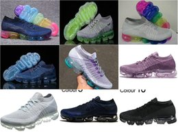 Wholesale Real Lawn - New Rainbow betrue VaporMax 2018 BE TRUE Shock Real Qualit Casual Vapor Maxes Shock Gym Running Shoes Men Women Sneakers Training Szie 36-46