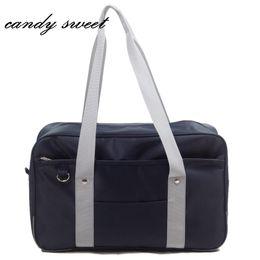 Sacos com marca japonesa on-line-Estilo japonês JK Uniforme Cosplay Handbag Marca de Moda Oxford Bolsa de Ombro Alunos da High School Bookbag Saco de Viagem Mensageiro