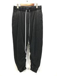Argentina Hiphop Vintage gris holgados pantalones de deporte Kanye West suelta ajuste entrepierna jogger pantalones envío gratis cheap drop crotch pants free shipping Suministro