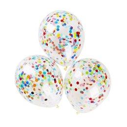 Ballons tisch online-Umweltfreundlich 36-Zoll-Runde Transparentpapier Ballon 2018 neue heiße Hochzeit Layout-Große Konfetti Luftballons Hochzeit Tischdekorationen
