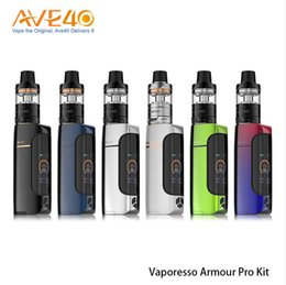 Wholesale Gt Box - 100% Orginal Vaporesso Armour Pro Kit 100W Armour Pro Box Mod with 5ML Cascade Baby Subohm Tank GT Meshed Coils Upgraded Omni Board