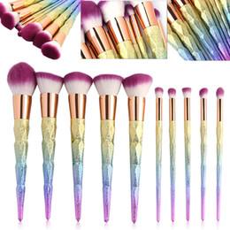 Wholesale Hair Fantasy - Hot Sales Unicorn Makeup Brushes Set Fantasy Makeup Tools Professional Foundation Powder Cream Blush Eyeshadow Unicorn Brushes Kit Free DHL
