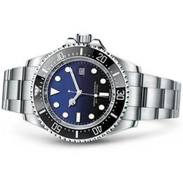 Argentina Logotipo famoso nuevo relojes de pulsera de zafiro original Basilea rojo SEA-DWELLER acero inoxidable automático de 44 mm relojes de viento automático supplier mechanical watch red Suministro