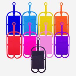 2019 telefonhalter hals Kreditkarten-ID-Kartenhalter Silikon Lanyards Umhängeband Halskette Sling Card Holder Strap für iPhone X 8 Universal-Handy SCA436 günstig telefonhalter hals