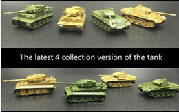 Wholesale germany toys - 1PCS Set 4D Sand Table Plastic Tiger Tanks World War II Germany Panther Tank 1:144 Scale Finished Model Toy