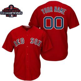 a medida que el jersey Rebajas Hombres Boston Red Sox 2018 Campeones de la Serie Mundial Parche Personalizado Redsox David Ortiz Steve Pearce Béisbol