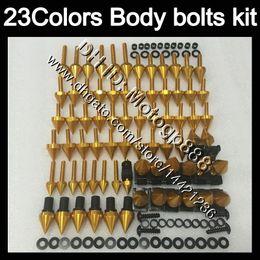 Wholesale Honda Cbr125r Fairings - Fairing bolts full screw kit For HONDA CBR125R 02 03 04 05 06 CBR 125R CBR125 2002 2003 2004 05 2006 Body Nuts screws nut bolt kit 23Colors
