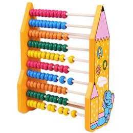 2019 abacus de contas de madeira Desenhos Animados Colorido Talão De Madeira Ábaco Criança Educacional Calcular Números de Contagem de Aprendizagem de Matemática Ferramenta Lápis Padrão Abacus Quadro De Madeira Brinquedos abacus de contas de madeira barato