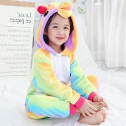 8821db912cc4c Enfants Unicorn Pyjamas Kigurumi Onesie Enfants Animal Star Arc-En-Unicorn  Vêtements De Nuit Chrismas Anime À Capuche Pyjama Pour Filles Garçons