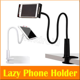 Wholesale Long Bedding - Cheap Universal Mobile Phone Holder Long Arm Lazy Mount Bracket Stand for Desk Bed 360 Degree Flexible Rotate for tablet ipad holder