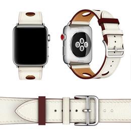 2019 correa de reloj de manzana 42mm 38-42mm iWatch Band 1 2 3 Single Tour Rallye 6 puertos Herm Watchbands correa de reloj de cuero genuino para Apple Series rebajas correa de reloj de manzana 42mm