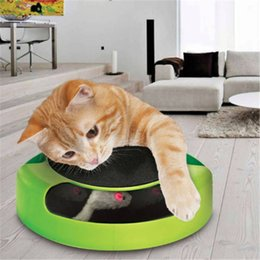 moving cat toys Promo Codes - Moving Cat Play Toy Round Motion Cat Toy Turntable Cat Playing Toy Plastic Catch The Mouse Toys.