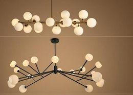 ciondolo in stile americano Sconti nuovo design Nord Europa LED creativo modo DNA lampada a sospensione 16/18 Globo lampadario in vetro paralume apparecchio di illuminazione a LED