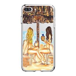 Wholesale Für iPhone X PLUS PLUS Telefon reizvolle Mädchen Muster weiche Silikon Handy Tasche