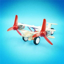 electric models science Australia - DIY Plane Both Wings Electric Power Aircraft Science Small Production Student Handmade Model Wooden Toy Child 6 8zm V