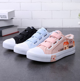 Wholesale Black Magic Paint - Hot sale spring 2018, the new hand-painted shoes and women's magic stickers will be worn with a stylish Korean version of the original lady'