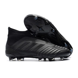 spring soccer 2018 - Adidas Predator 18+ FG Football Boots Cheap Men Soccer Shoes Laceless Cleats Socks High Ankle Outdoor Sneakers Size 39-45