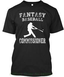 2019 la moda della maglietta di baseball Novità da uomo Slogan Maglietta Fantasy Baseball Shirt Commissioner Fashion Tshirt Hipster Cool Tops la moda della maglietta di baseball economici
