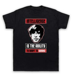 Wholesale Men Intelligence - Steven Hawking T Shirt Intelligence Is The Ability To Adapt To Change
