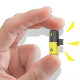 2019 azionamento flash sony Mini adattatore da pillola design 2 in 1 per iPhone 7 adattatore audio di ricarica per telefono X 8Plus adattatore per cuffie splitter caricatore