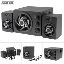 2019 caja de mp4 mp3 SADA D-209 Subwoofer de madera portátil USB 2.0 Subwoofer altavoz con conector de audio de 3,5 mm para PC portátil MP3 Celular MP4 PMP_726