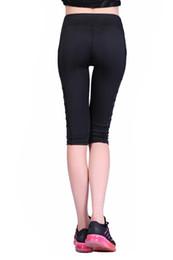 2018 nouveaux pantalons mi-mollet corsaires leggings sport femmes fitness yoga  gym taille haute legging fille noir maille 3 4 pantalons de yoga 4c14e99a121