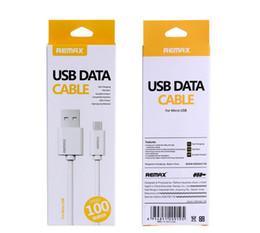 remax câbles Promotion Remax Hot USB type c câble de téléphone portable câble chargeur rapide pour Samsung LG LG avec boîte de détail blanc