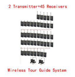 Wholesale takstar tour guide system - Takstar UHF-938 UHF Wireless Tour Guide System Simultaneous interpretation audio-visual eduation 2 Transmitter+45 Receptors