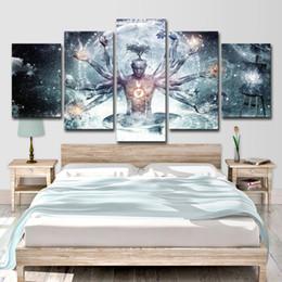 Impression d'art mural bouddha en Ligne-Moderne Toile HD Prints Photos Mur Art 5 Pièces Bouddha Art Yoga Peinture Arbre Abstrait Méditation Affiche Home Decor