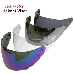 Wholesale ls2 helmets blue - LS2 FF352 helmet visor for motorcycle helmet shield LS2 FF352 lens rainbow silver smoke black clear visor helmets