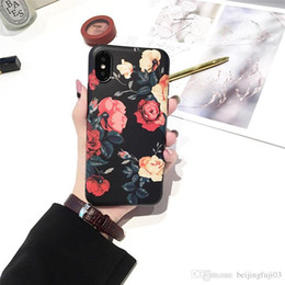 Vintage rose telefon online-Für iphone X 6 6S 7 8 plus Vintage Rose Matte Telefon Fall Telefon Schutz Shell