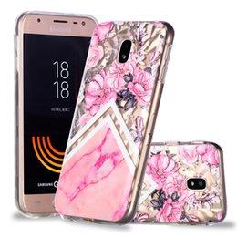 couverture de diamant j7 Promotion Classy Soft TPU Housses Pour Samsung Galaxy J730 J7 2017 Édition Européenne Case Relief Diamond Stripes Designer Mobile Phone Shell
